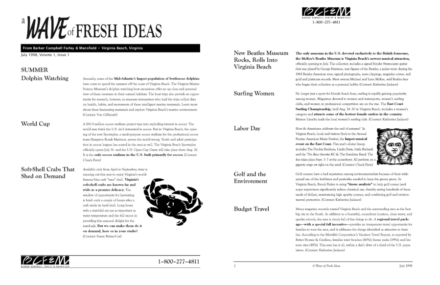 A Wave of Fresh Ideas Newsletter